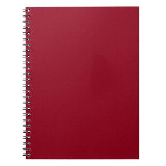 Cuaderno rojo oscuro de Borgoña