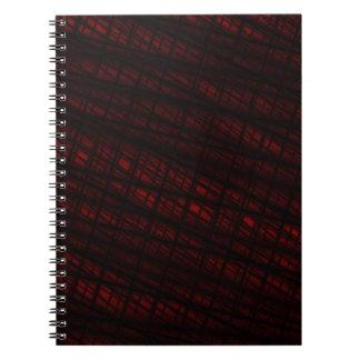 Cuaderno rojo oscuro del Web de araña