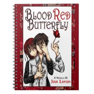 Cuaderno rojo sangre de la mariposa