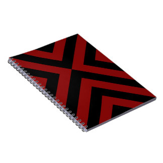 Cuaderno rojo y negro de los galones
