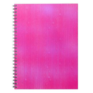 Cuaderno rosado artístico moderno de la textura