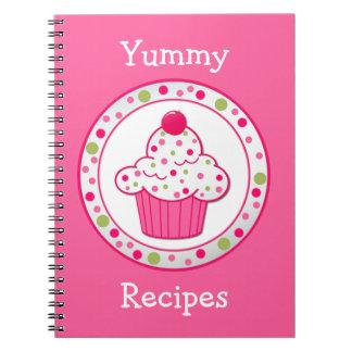 Cuaderno rosado caprichoso de la receta