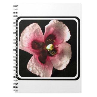 Cuaderno rosado de la amapola