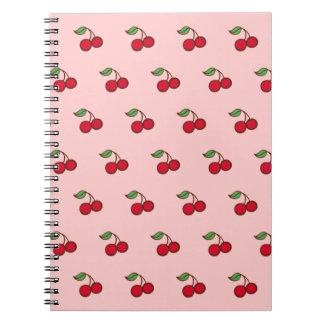 Cuaderno rosado de la cereza