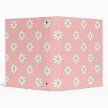 Cuaderno rosado de la escuela de las margaritas