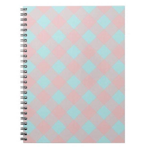 Cuaderno rosado de la guinga de la aguamarina