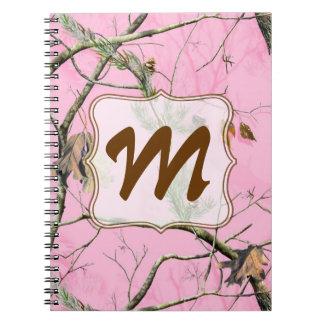 Cuaderno rosado de la inicial del monograma del ca