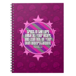 Cuaderno (rosado) del 3:5 de los proverbios