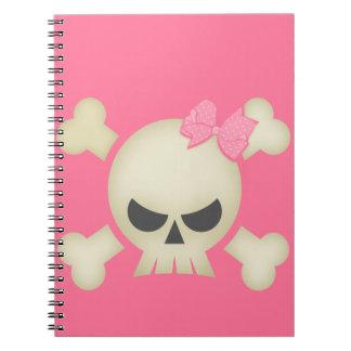 Cuaderno rosado del arco del cráneo N