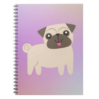 Cuaderno rosado del barro amasado