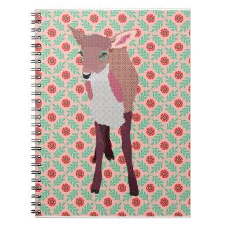 Cuaderno rosado del cervatillo