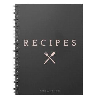 Cuaderno rosado del compañero de la cocina del