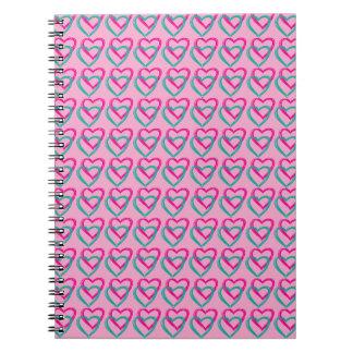 Cuaderno rosado del corazón (80 páginas B&W)