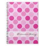 Cuaderno rosado del diario del lunar