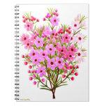 Cuaderno rosado del ramo de Waxflower