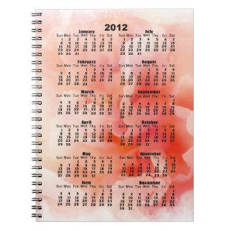 Cuaderno rosado mullido bonito del Peony de 2012 c