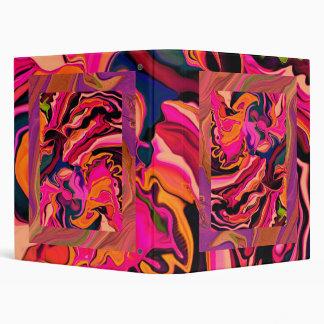 Cuaderno rosado psicodélico caliente del collage