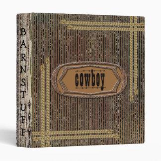 """Cuaderno rústico del vaquero de la impresión de la carpeta 1"""""""