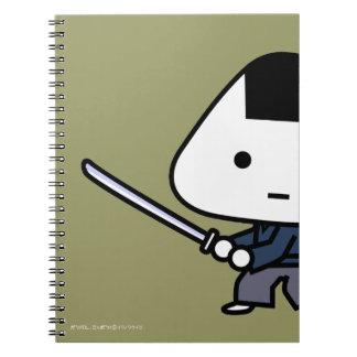 Cuaderno - samurai de RiceBall - oro