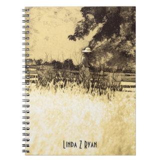 Cuaderno - señora en la plantación del Mt Vernon t