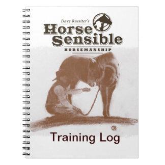 Cuaderno sensato del registro del entrenamiento de