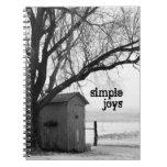 Cuaderno simple de las alegrías