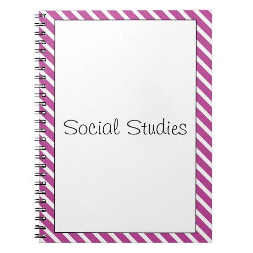 Cuaderno simplemente rayado del personalizable