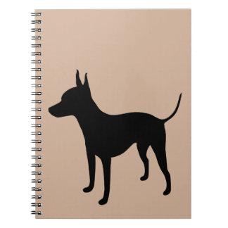 Cuaderno sin pelo americano de Terrier