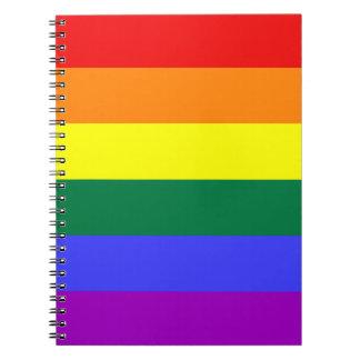 Cuaderno sólido de la raya del arco iris