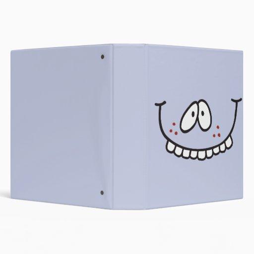 """cuaderno sonriente del bígaro de los dientes diver carpeta 1 1/2"""""""