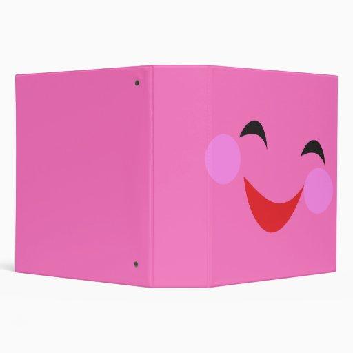 cuaderno sonriente tonto del rosa de la cara
