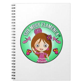 Cuaderno Soy Muuy Flamenca Castaña y Verde