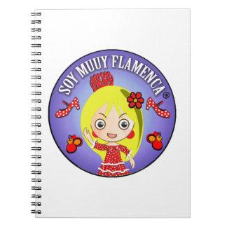 Cuaderno Soy Muuy Flamenca Rubia y Vestido Rojo