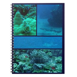 Cuaderno subacuático del Caribe del mundo