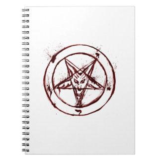 Cuaderno sucio rojo de Baphomet