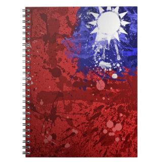 Cuaderno taiwanés artístico retro de la bandera