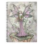 Cuaderno tranquilo de la hada de la flor de la lun