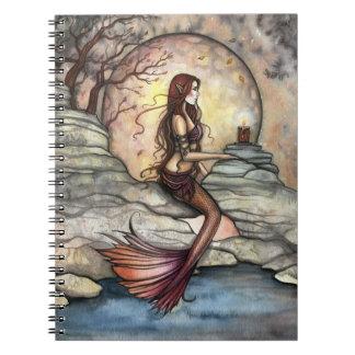 Cuaderno tranquilo del arte de la sirena de la lag