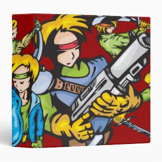 """Cuaderno tres de los combatientes del animado carpeta 1 1/2"""""""