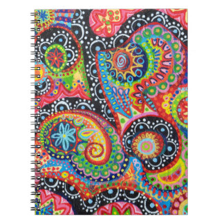 Cuaderno tribal abstracto colorido del arte