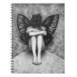 Cuaderno triste del chica de la mariposa