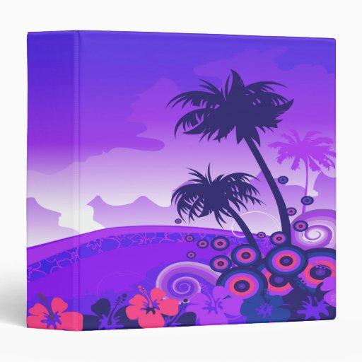 """cuaderno tropical de la dicha de los skys púrpuras carpeta 1 1/2"""""""
