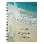 Cuaderno tropical del boda de playa