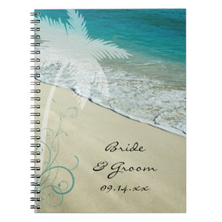 Cuaderno tropical del boda de playa