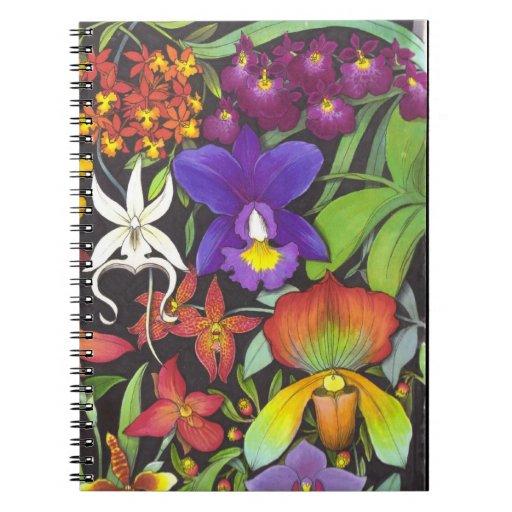 Cuaderno tropical del jardín de la orquídea