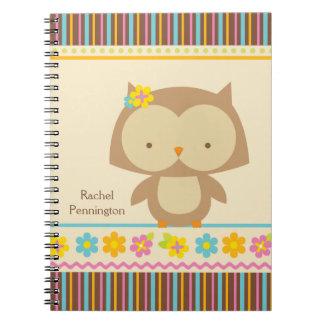 Cuaderno tropical lindo personalizado de los chica