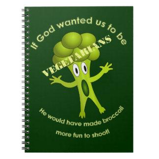 Cuaderno vegetariano divertido de la cita