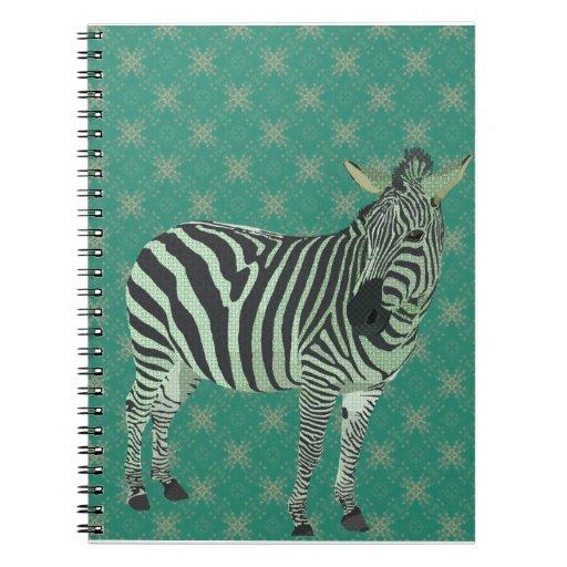 Cuaderno verde de la cebra