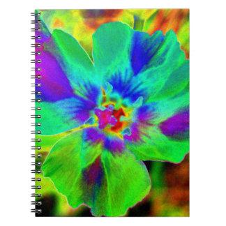 Cuaderno verde de la flor del arte