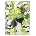 Cuaderno verde de la salpicadura